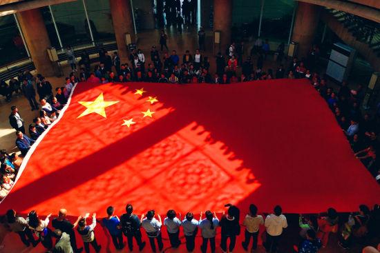 西安博物院展国旗主题教育活动。