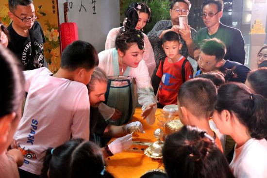 法门寺博物馆茶文化主题教育活动。