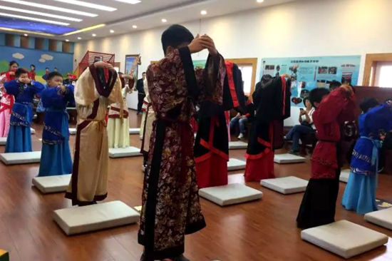 汉景帝阳陵博物院汉文化主题教育活动。