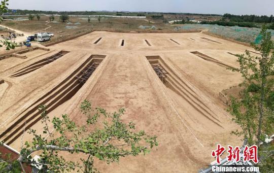 图为雷家村十六国墓地。陕西省考古研究院 供图