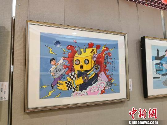 图为户县农民画作品。 党田野 摄