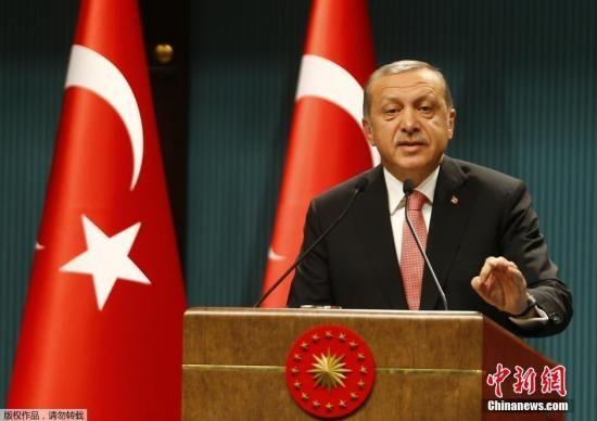 资料图片:土耳其总统埃尔多安。
