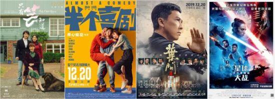 12月20日,4部贺岁档电影集中上映。
