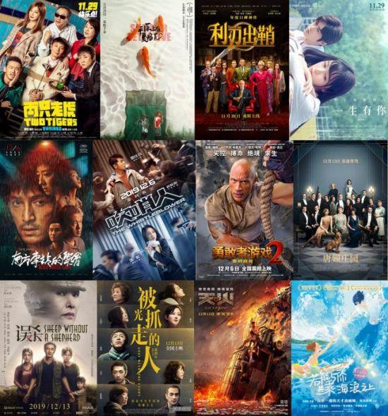 2019年贺岁档,多部国产片与进口片展开竞争。