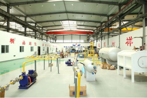 西安沃祥航空科技有限公司生产厂房。
