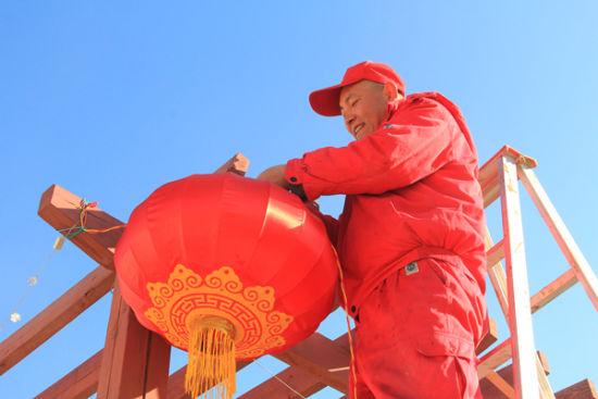 长庆油田采油一厂百里油区年味浓。