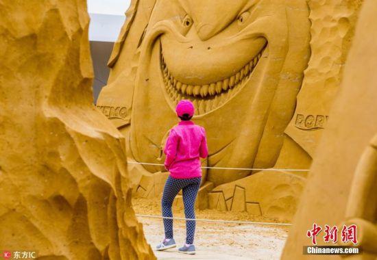 金色童话世界 比利时举行迪士尼主题沙雕节